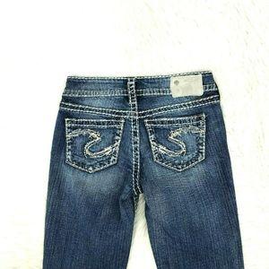 "Silver Jeans Women Suki 17"" Sz 25 X 33 Inseam K23"